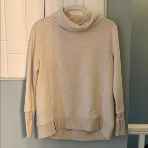 Backcountry sweatshirt with finger holes